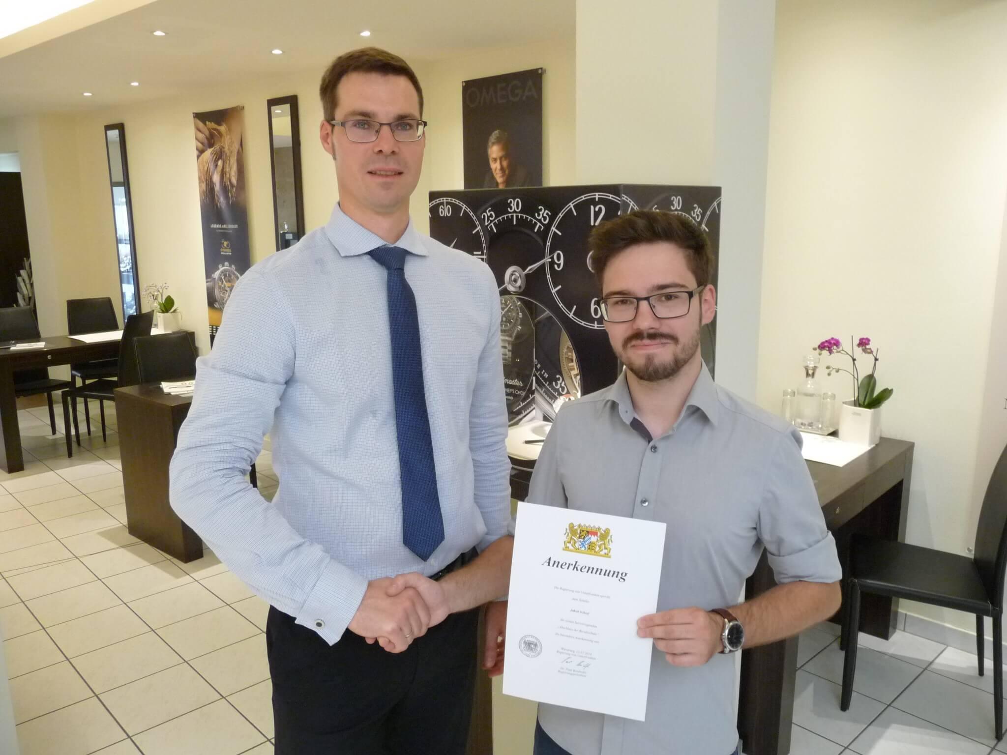 Wir gratulieren Jakob Scherf