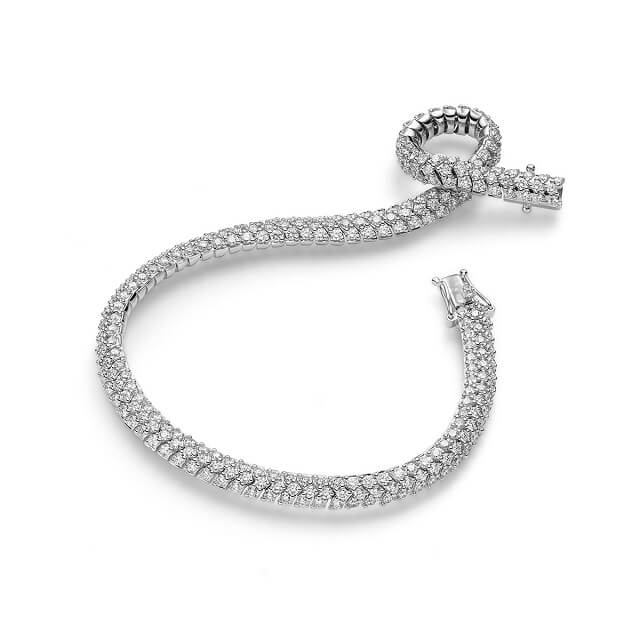 Brillant Armband 4,27 ct Weißgold