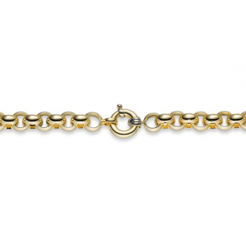 Collierkette Erbsgeflecht Gelbgold 45 cm