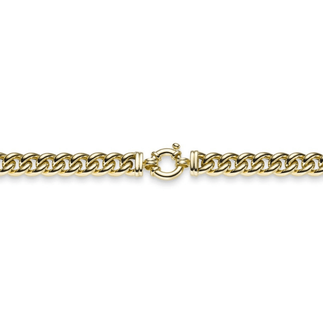Collierkette Rundpanzer Gelbgold 45 cm