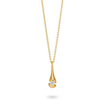 Schaffrath Collier Calla Drop 0,15ct Gelbgold