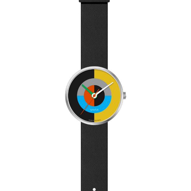 Walter Gropius J.Albers Uhr aus Edelstahl mit Lederarmband