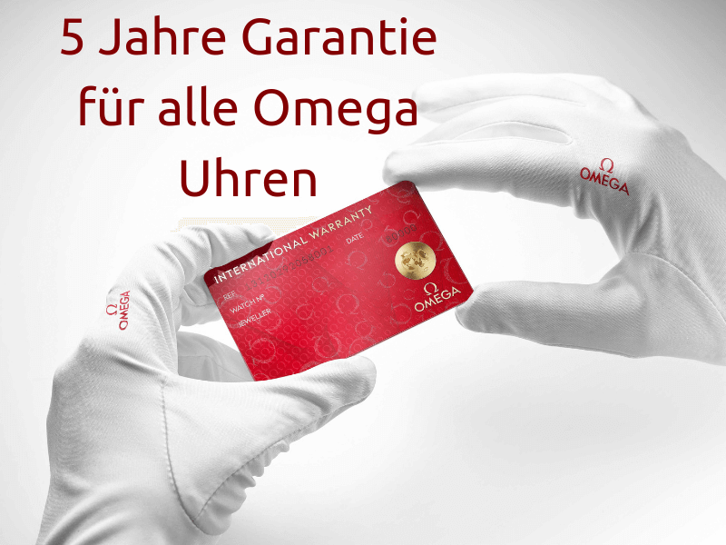 5 Jahre Garantie für alle Omega Uhren