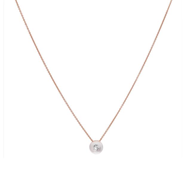 schmuckwerk Collier Glasklar aus Edelstahl mit Diamant
