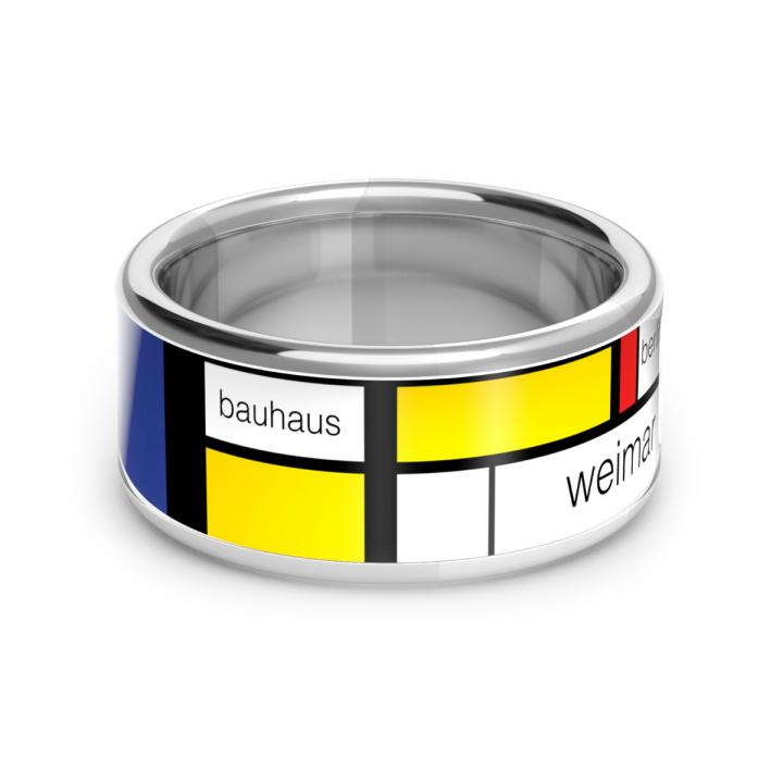 Bauhaus Ring Silber