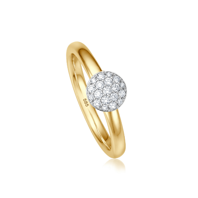 Brillantring Bella 0,17 ct Gelbgold