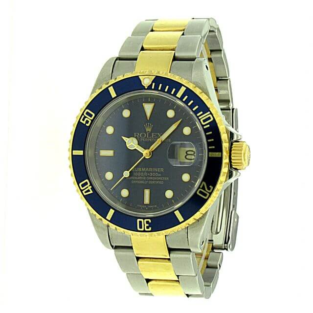 rolex submariner date 16613 stahl gold juwelier oeke. Black Bedroom Furniture Sets. Home Design Ideas
