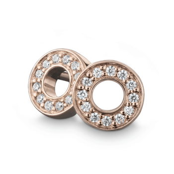 Brillant Ohrstecker 0,12 ct Roségold