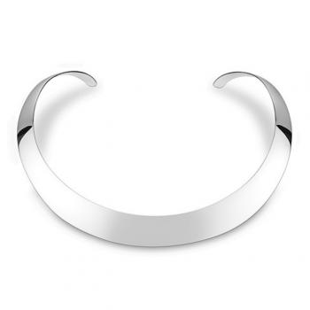 Silber Halsreif poliert 14 mm