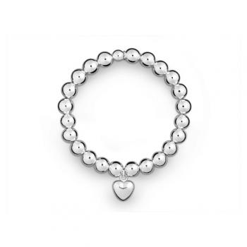 Silber Kugelarmband Herz
