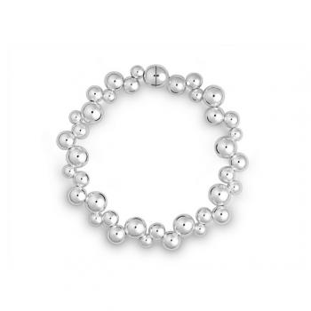 Silber Kugelarmband mit Magnetschließe