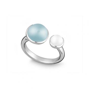 Silber Ring mit Blau Topas