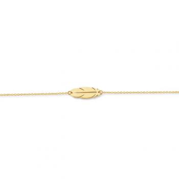 Armband mit Feder Gelbgold