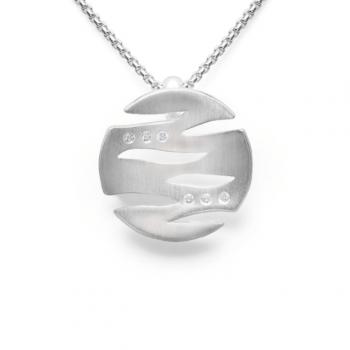Bastian Anhänger Silber mit Diamant 12884