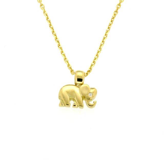 Elefanten Anhänger klein mit Brillant
