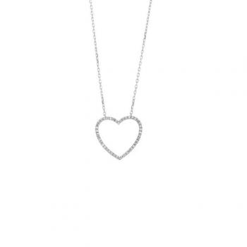 Diamant Collier Herz Weißgold