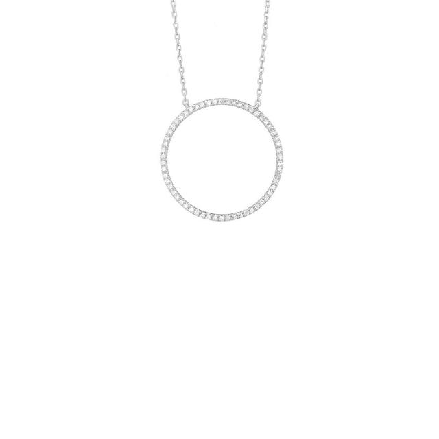 Diamant Collier Kreis Weißgold 0,05ct