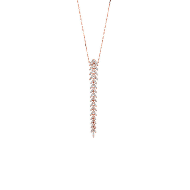 Diamant Collier Rosegold 0,15ct