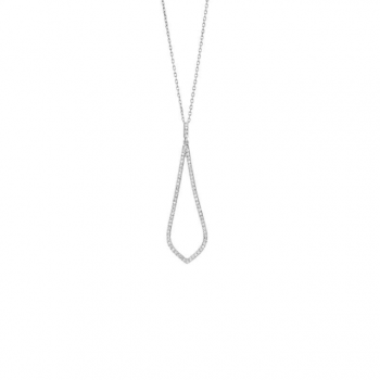 Diamant Collier Weißgold 0,16ct