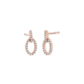 Diamant Ohrstecker Rosegold 0,12ct