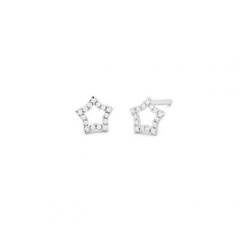 Diamant Ohrstecker Stern Weißgold 0,09ct