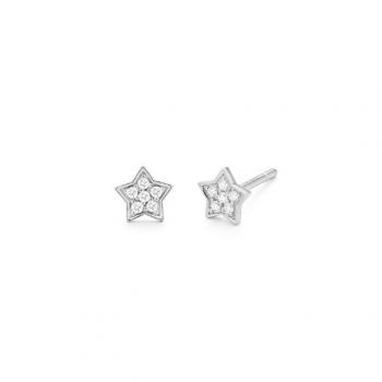 Diamant Ohrstecker Stern Weißgold 0,10ct
