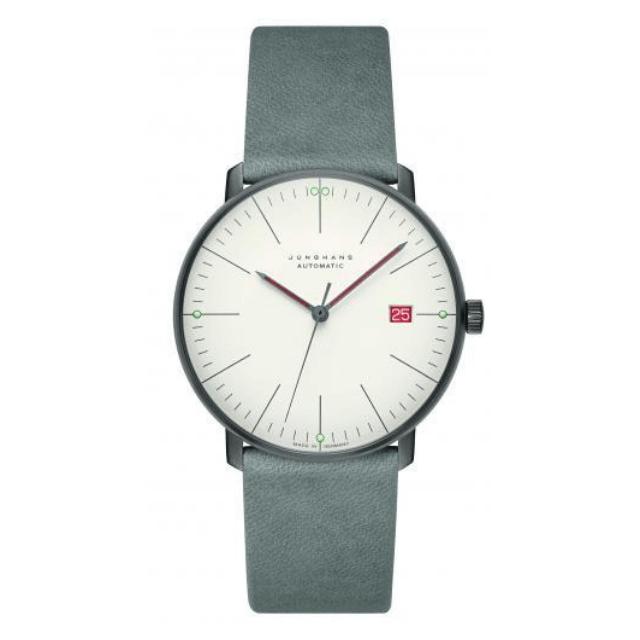 Junghans Max Bill Uhr aus Edelstahl mit Lederband