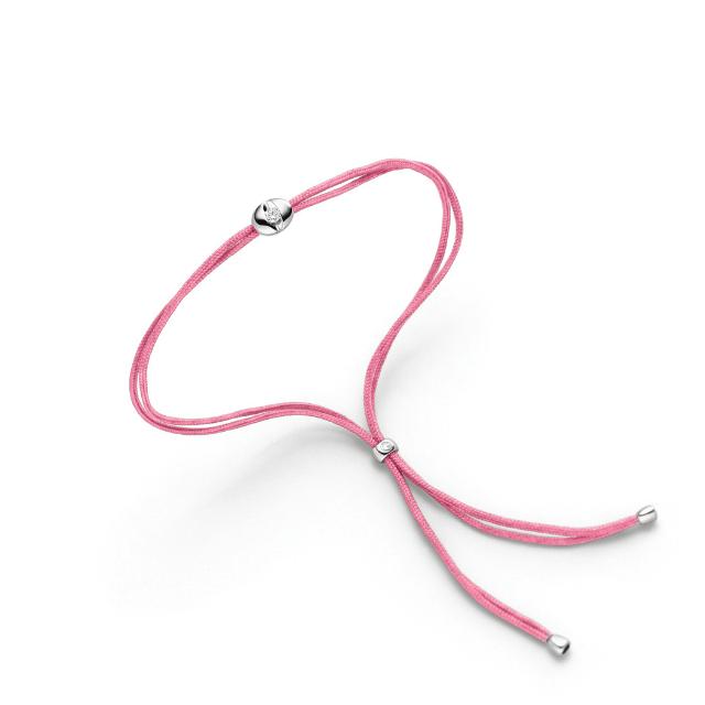 Schaffrath Armband Colortaire 0,05ct Weißgold Candy Pink