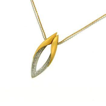 Brillantanhänger Rose-Weißgold 0,90ct