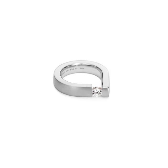Niessing Spannring Bauhaus Brillant aus Platin mit Diamant