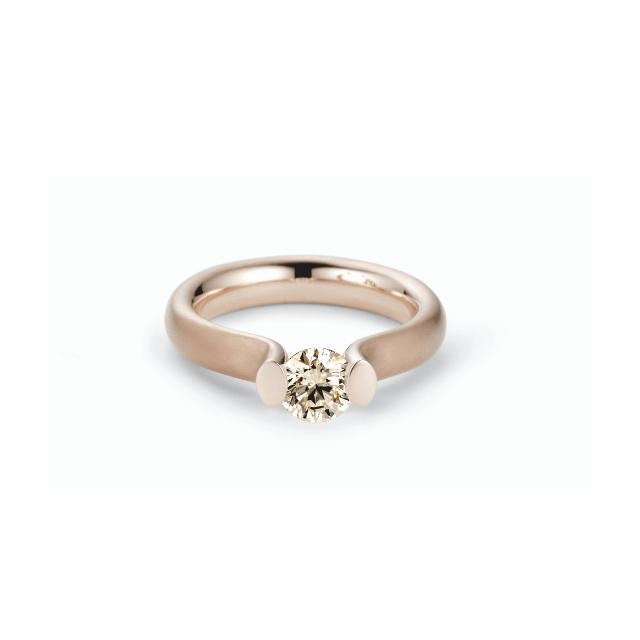 Niessing Spannring Heaven 0,51ct Rosewood aus Gold mit Diamant