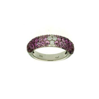 Pink Saphir Rubin Ring Weißgold