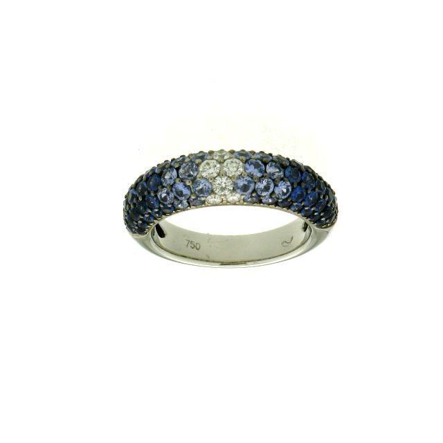 Saphir Ring 2,6 ct Weißgold