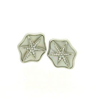Silber Clipstecker mit Perlmutt