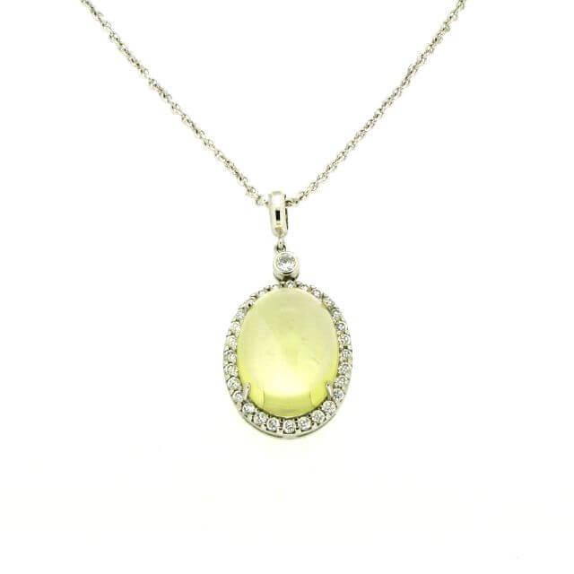 Silber Collier mit Lemonquarz