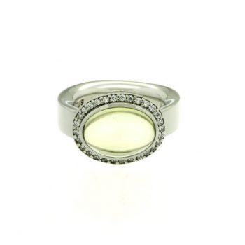 Silber Ring mit Lemonquarz