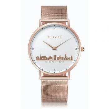 Weimar Uhr rosé 40mm Milanaiseband