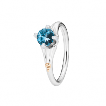 Capolavoro Ring Capriccio London Blue Topas