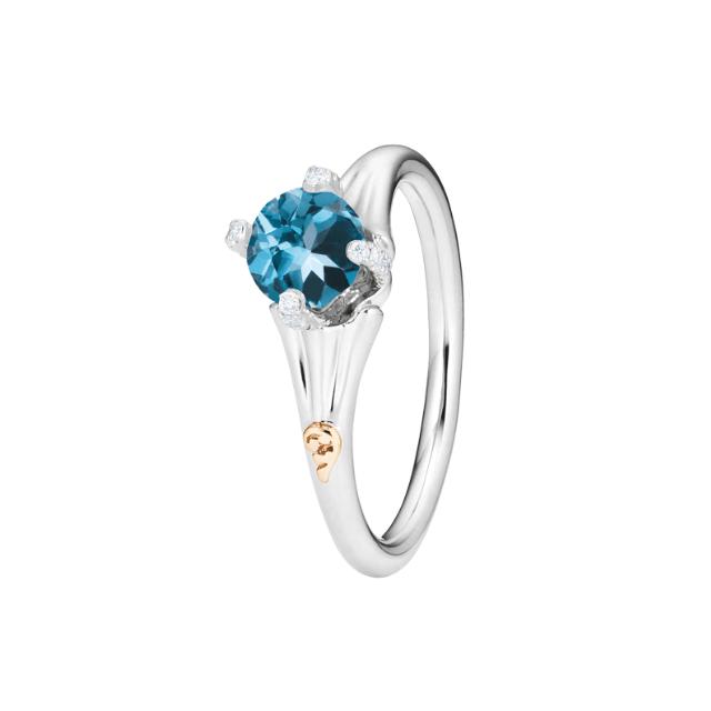 Capolavoro Ring Capriccio London Blue Topas