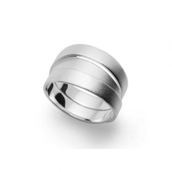 Bastian Ring Silber mattiert 28281