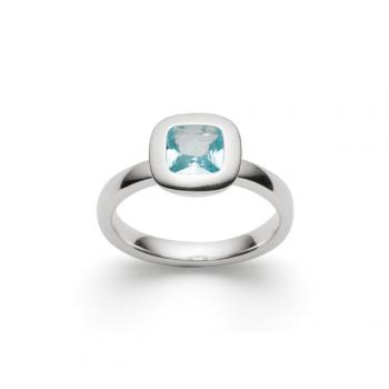 Bastian Ring Silber mit Blautopas 27711