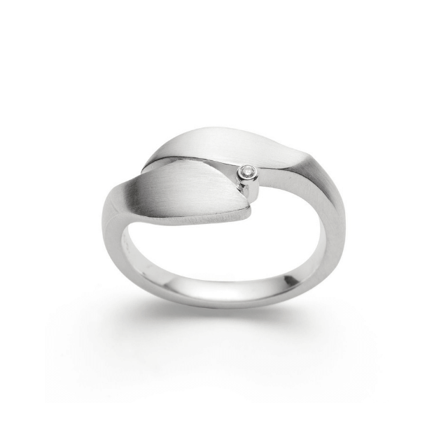 Bastian Ring Silber mit Diamant 28031