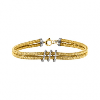 Brillant Armband 0,14ct Gelbgold