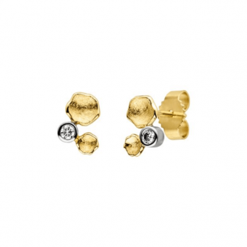 Brillant Ohrstecker 0,06ct Gelbgold
