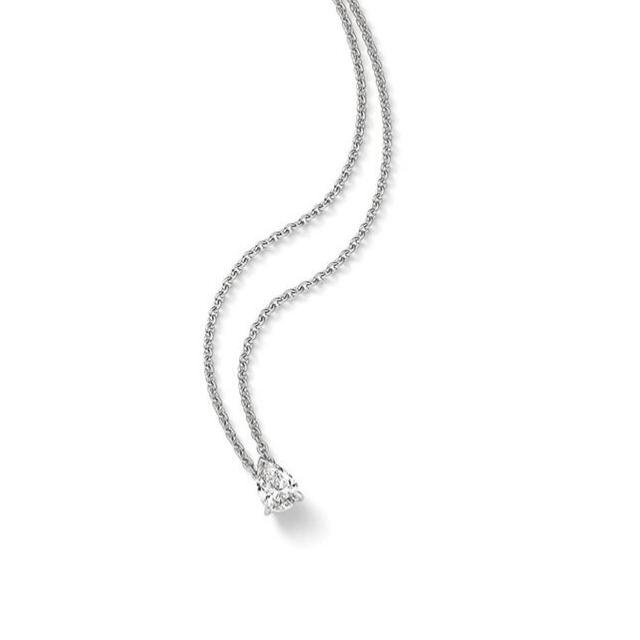 Diamant Collier Tropfen 0,48ct Weißgold