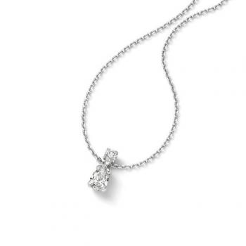 Diamant Collier Tropfen 1,10ct Weißgold