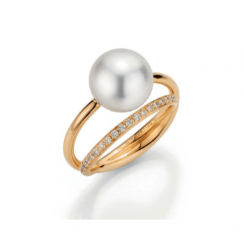 Gellner Ring Südsee Brillant Roségold 5-22430-02