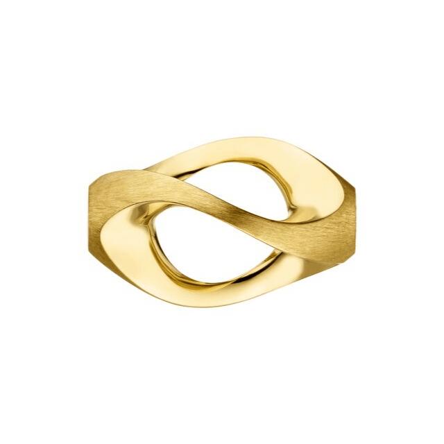 Perlschließe ellipsenförmig Gelbgold