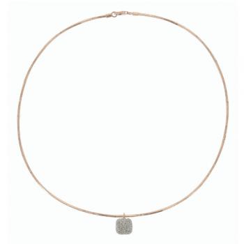Pesavento Collier 18kt Rosegold mit Diamantstaub