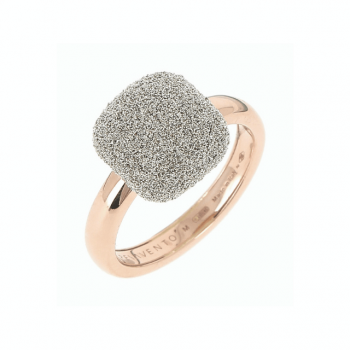 Pesavento Ring 18kt Roségold mit Diamantstaub